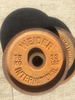 33LB OLYMPIC WEIGHT PLATE for Sale in Buena Park, CA