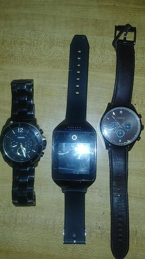Smart watch two fossil one works brown needs battery for Sale in Stuttgart, AR