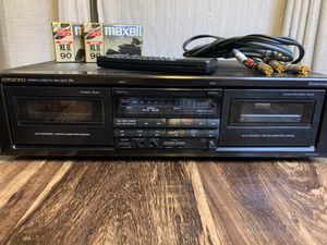 Vintage Onkyo TA-RW303 dual cassette recorder for Sale in Denver, CO