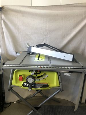 "Ryobi Expanded capacity 10""Table saw includes stand and guide fence for Sale in Fontana, CA"