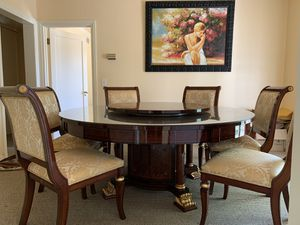 High-end European Modern Dining table and chairs for Sale in Los Angeles, CA
