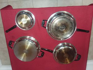 Professional Platinum Cooking System pans. T304 Surgical Stainless Steel - Titanium. for Sale in Kissimmee, FL
