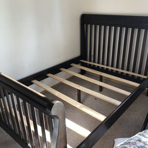 wooden bed, twin full size for Sale in Everett, WA