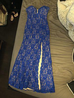 Blue lace prom dress for Sale in Phoenix, AZ