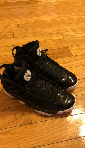 Black white and gold 6 ring Jordan's for Sale in Durham, NC