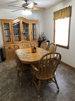 Dining room table with chairs and china cabinet for Sale in Batsto, NJ