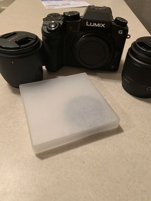 Lumix g7 with 2 lenses 4k camera for Sale in Rowlett, TX