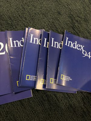 National Geographic indexes 1994-2001. 8 indexes for Sale in Framingham, MA