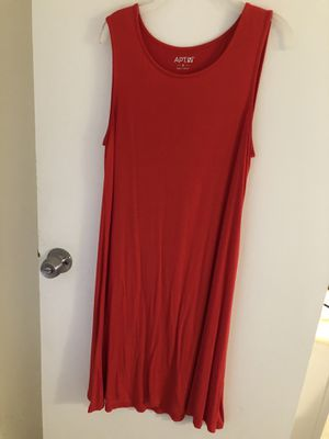 Apt 9 red t-shirt dress for Sale in Bethesda, MD