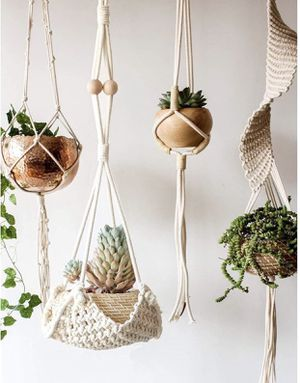 """Brand new Macrame Plant Hanger Handmade Cotton Rope Wall Hangings Home Decor,30"""" L for Sale in Baltimore, MD"""