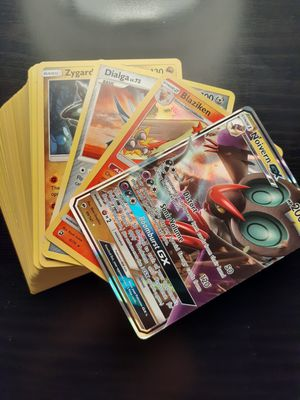 Pokemon card 100 card lot 2 holos including GX 1 rare $10 for Sale in Orange, CA