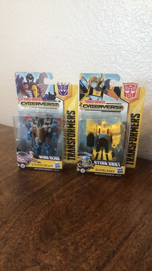 Hasbro Transformers Cyberverse Sting Shot BUMBLEBEE - New in Box! Hasbro Transformers Cyberverse Wing Slice Starscream Action Figure New for Sale in Chula Vista, CA