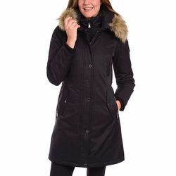 Madison Expedition Ladies Long Parka Large Black Faux Fur Hood for Sale in Huntington Park,  CA