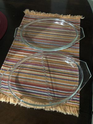 Pyrex Lids for Divided Dish, and Open Baker or 045 for Sale in Phoenix, AZ