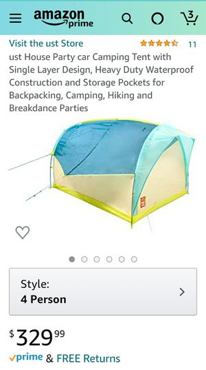 $330+tax on Amazon, ust House Party car backpacking Camping Tent with Single Layer Design, Heavy Duty Waterproof Construction for Sale in San Diego, CA