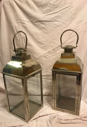 Two silver lanterns for Sale in St. Louis, MO