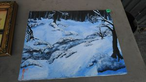 Winter scene hand painted for Sale in North Charleston, SC
