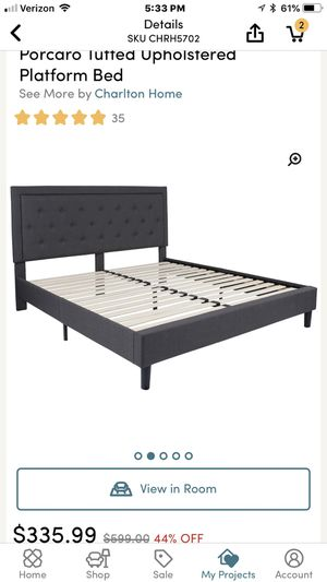 Parcaro upholstered platform bed. for Sale in Hazelhurst, WI