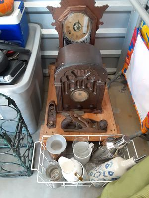Antiques _ clock, radio, tools many other items. for Sale in Gulfport, FL