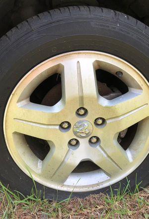 Full set of tires. Rims included used but in very good condition about 75% of tread still on them for Sale in West Columbia, SC