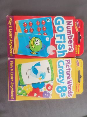 Kids Go Fish & Crazy Eights Card Games for Sale in Sacramento, CA