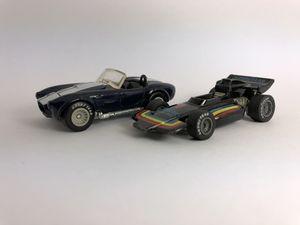 2 Vintage Hot Wheels - Real Riders - 1983 Malibu Grand Prix / 1997 Custom Cobra - 1/64 for Sale for sale  Black Diamond, WA