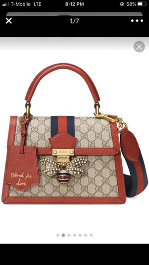 Gucci Queen Margaret Textured Leather-trimmed Printed Coated-canvas Tote for Sale in Atlanta, GA