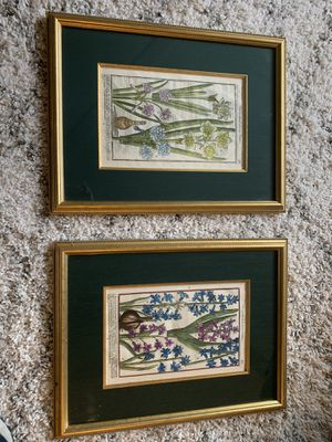 Botanical Paintings, Professionally Framed for Sale in Sammamish, WA