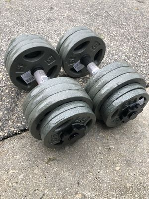 NEW 2x40lbs adjustable iron dumbbells 💪🏼 $110 for Sale in Miami, FL