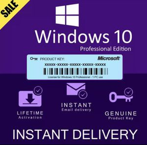 Windows 10 Pro/Home Key License Product for Sale in Fontana, CA