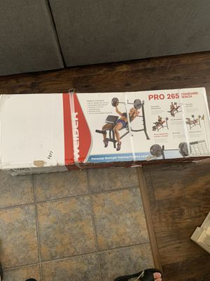 Weider pro 265 work out bench for Sale in Sacramento, CA