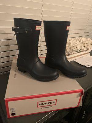 New authentic Hunter women's rain boots for Sale in San Bernardino, CA