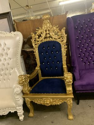 Beautiful throne chair.$1800. Best offer for Sale in Brooklyn, NY