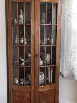 Corner Oak Wood Curio for Sale in Norwalk,  CT