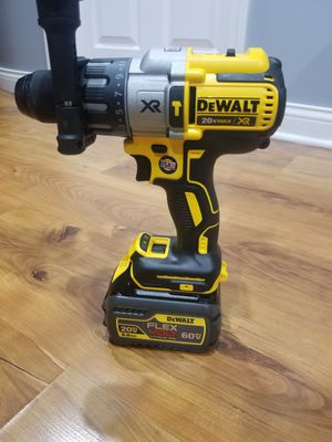 Dewalt hammer drill battery flex volt 60v no charge for Sale in Chicago, IL