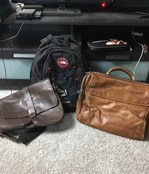 2 Leather Messenger Bags and a Backpack for Sale in Kissimmee, FL