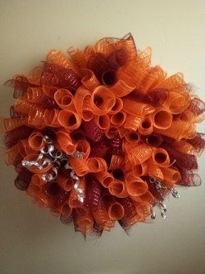 VT Deco mesh colored wreath for Sale in Roanoke, VA