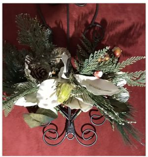 Christmas Home And Garden Floral Wall Decor Hanging Candle Holder for Sale in Knightdale, NC
