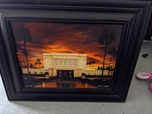 Mesa LDS temple framed 38 in x 31 for Sale in Mesa, AZ