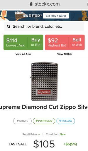 Supreme diamond zippo for Sale in San Jose, CA