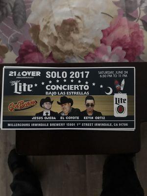Bajo las estreyas tickets for Sale in Riverside, CA