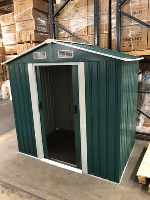 Brand New 4'x6' Metal Storage Shed Backyard Outdoor Garden Tools for Sale in Fullerton, CA