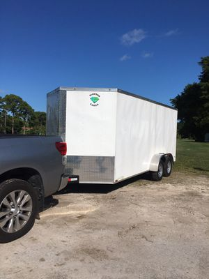 Trailer enclosed clean title 7 x 16 it's 2019 diamond cargo for Sale in Palm City, FL