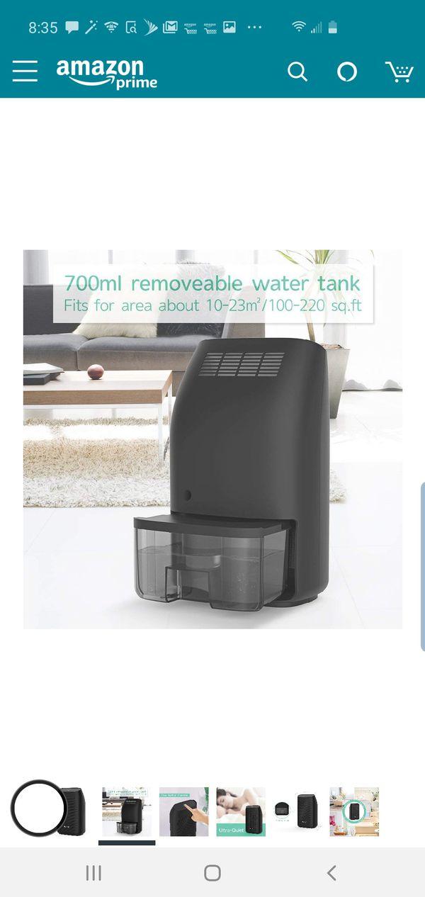Hysure Dehumidifier,700ml Compact Deshumidificador 1200 Cubic Feet(215 sq ft) Quiet Room Dehumidifier, Portable Dehumidifier Bathroom Dehumidifier