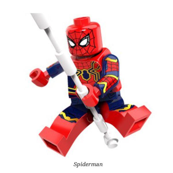 Mini Figure Super Hero 6 ct works with legos