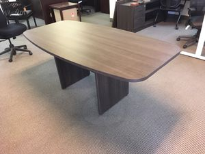6x3 boat shape conference table in tennis gray for Sale in Phoenix, AZ