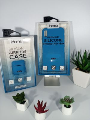 iHome Premium Silicone Case for iPhone Xmax and Silicone Airpods case for Sale in Loma Linda, CA