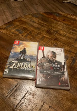 The Legend of Zelda Breath of The Wild & The Witcher 3 Wild Hunt Nintendo Switch Complete Edition for Sale in South Roxana, IL