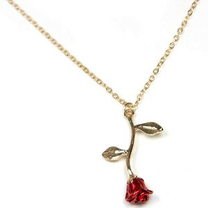 Fancy Gold Necklace Rose Pendant Jewelry Birthday Anniversary Gift for Sale in Corona, CA