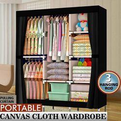 "71"" Portable Clothes Storage Closet Organizer Shelf Wardrobe Rack Shelves Fabric for Sale in Palmdale,  CA"